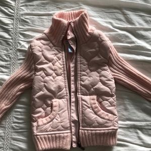Other - Autumn jacket pink heart quilt with knitting